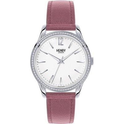 Henry London Heritage Hammersmith Unisexuhr in Pink HL39-SS-0063