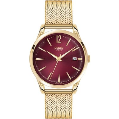 Henry London Heritage Holborn Unisexuhr in Gold HL39-M-0062