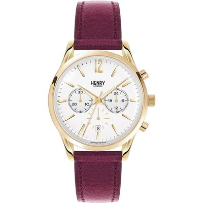 Henry London Heritage Holborn Unisexchronograph in Rot HL39-CS-0070