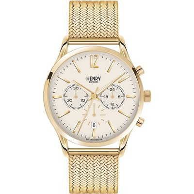 Henry London Heritage Westminster Herrenchronograph in Gold HL41-CM-0020