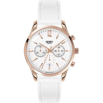 Henry London Heritage Pimlico Unisexchronograph in Weiß HL39-CS-0126