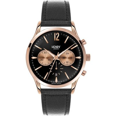 HENRY LONDON Henry London Heritage Richmond Herrenchronograph in Schwarz HL41-CS-0042
