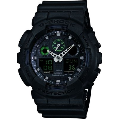Casio G-Shock Military Black Herrenchronograph in Schwarz GA-100MB-1AER