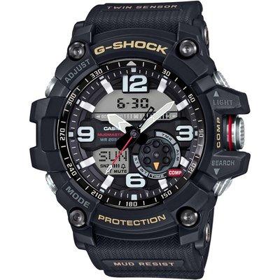 CASIO Casio Premium G-Shock Mudmaster Twin Sensor Compass Herrenchronograph in Schwarz GG-1000-1AER