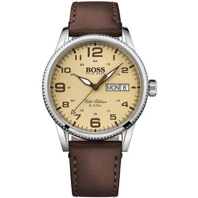 HUGO BOSS Hugo Boss Pilot Vintage Pilot Vintage Herrenuhr in Braun 1513332