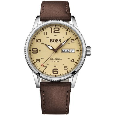 Hugo Boss Pilot Vintage Pilot Vintage Herrenuhr in Braun 1513332