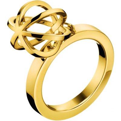Calvin Klein Size N Show Ring PVD vergoldet KJ4XJR100207   CALVIN KLEIN SALE