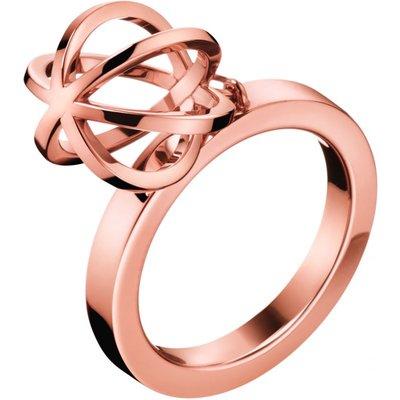 Calvin Klein Size N Show Ring PVD rosévergoldet KJ4XPR100207   CALVIN KLEIN SALE