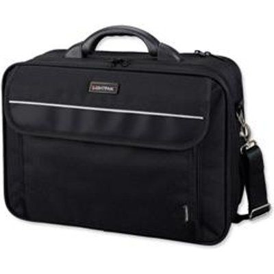 04021068460106 | Lightpak Arco Laptop Bag Padded Nylon Capacity 17in Black Ref 46010