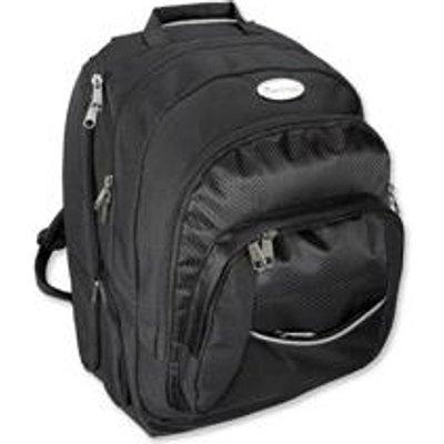 Lightpak Advantage Backpack Nylon with Detachable Laptop Sleeve Capacity 17in Black Ref 46090 - 04021068460908