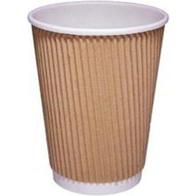 CPD (12oz) Kraft Ripple Hot Cup (Pack of 25) - 511053