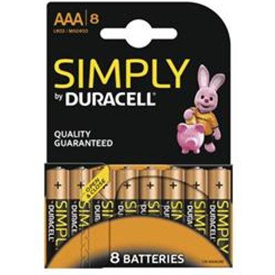 Duracell Simply (AAA) Alkaline Batteries (Pack of 8) - MN2400B8SIMPLY