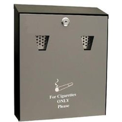 Cathedral (3.1 litre) Lockable Steel Ash Bin (Black) - ASHS