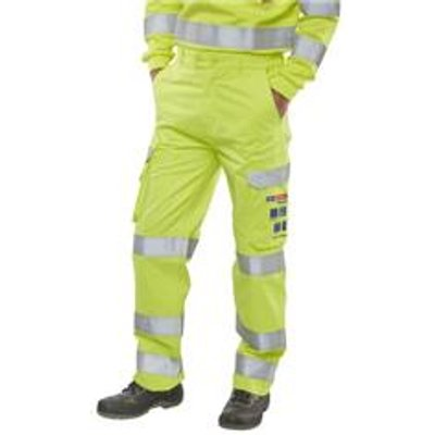 Click Arc Hi-Vis Yellow Trousers 46 - CARC5SY46