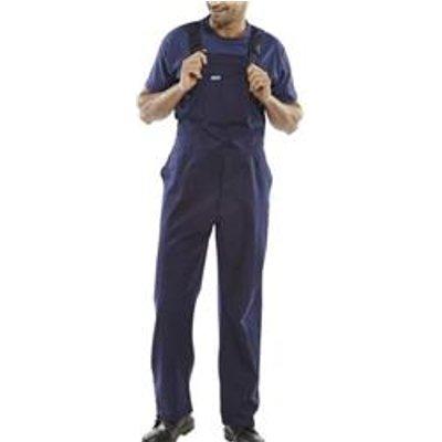 Click Workwear Cotton Drill Bib And Brace Navy Blue 32 - CDBBN32
