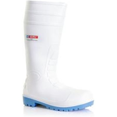 B-DriFootwear PVC Safety Wellington White 10.5 - BBSW10.5
