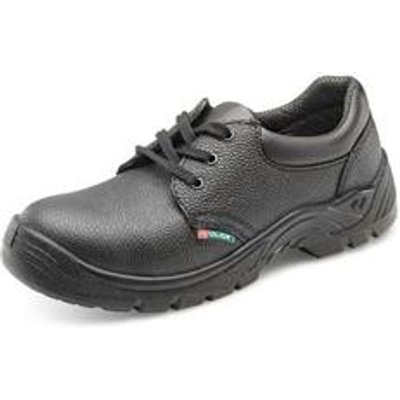 Click Footwear Economy Shoe S1P Black 10 - CDDSMS10