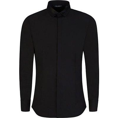 Neil Barrett Black Tuxedo Collar Shirt - Size M