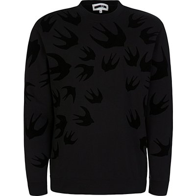 McQ Swallow Black Swallow Sweatshirt - Size XXS
