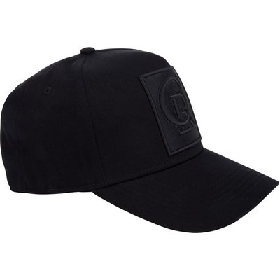 Christian Rose Black CR Emblem Cap - Size One Size