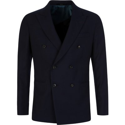 Paul Smith Navy Slim Fit Double-Breasted Jacket - Size 38