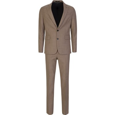 Paul Smith Tan Tailored-Fit Two-Button Suit - Size XXL
