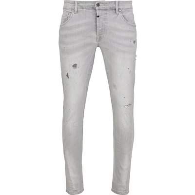 tigha Destroyed Jeans Billy the kid 9975 repaired grau (light grey)