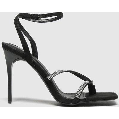 Schuh Black Seren Embellished Sandal High Heels