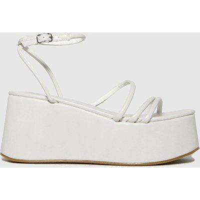 Schuh White Sabrina Flatform Strappy High Heels