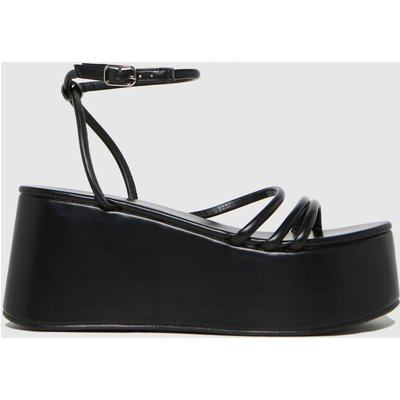 Schuh Black Sabrina Flatform Strappy Sandals