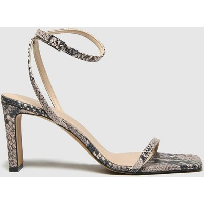 Schuh Black & Grey Siobhan Two Part Sandals