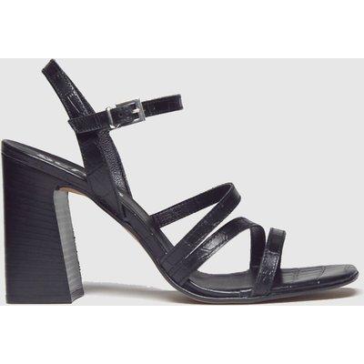 Schuh Black Complex Strappy Sandal Low Heels