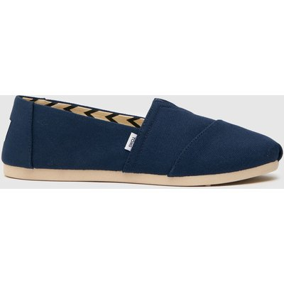 Toms Navy Classic Slip Flat Shoes