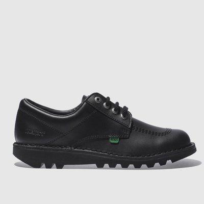 Kickers Black Lo Flat Shoes