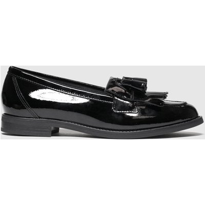 Schuh Black Compass Leather Loafer Flat Shoes