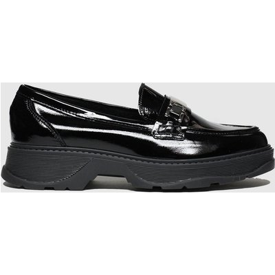 Schuh Black Clueless Leather Loafer Flat Shoes
