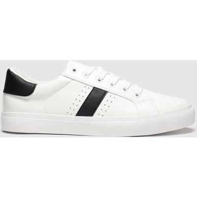 Schuh White & Black Medley Flat Shoes