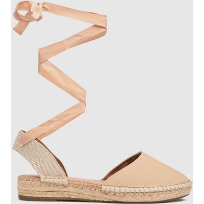 Schuh Natural Lorna Espadrille Tie Up Flat Shoes