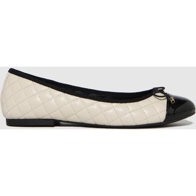 Schuh White Luna Quilted Ballerina Flat Shoes
