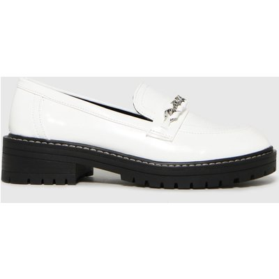 Schuh White Loretta Chunky Chain Loafer Flat Shoes