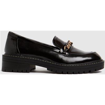 Schuh Black Loretta Chunky Chain Loafer Flat Shoes