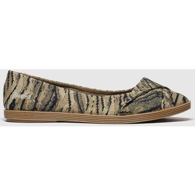 Blowfish Malibu Brown & Black Tizzy Flat Shoes