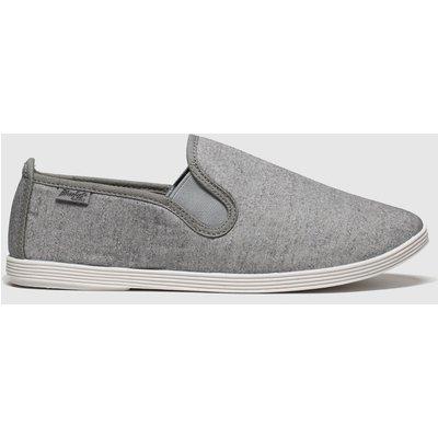 Blowfish Malibu Light Grey Gadget Flat Shoes