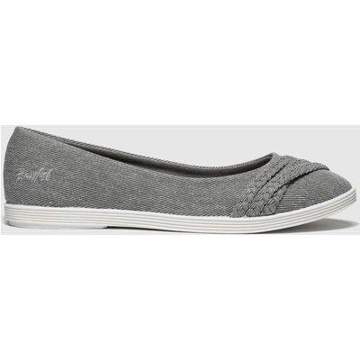 Blowfish Malibu Grey Giddie Flat Shoes
