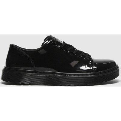 Dr Martens Black Dante 6 Eye Patent Flat Shoes