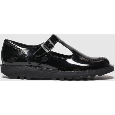 Kickers Black Kick Lo Aztec Mono Flat Shoes
