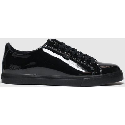 Kickers Black Tovni Lacer Mono Flat Shoes