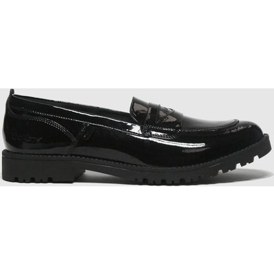 Kickers Black Lachley Loafer Flat Shoes