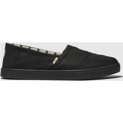 Toms Black Alpargata Cupsole Flat Shoes