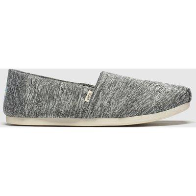 Toms Grey Alpargata Slip Repreve Flat Shoes